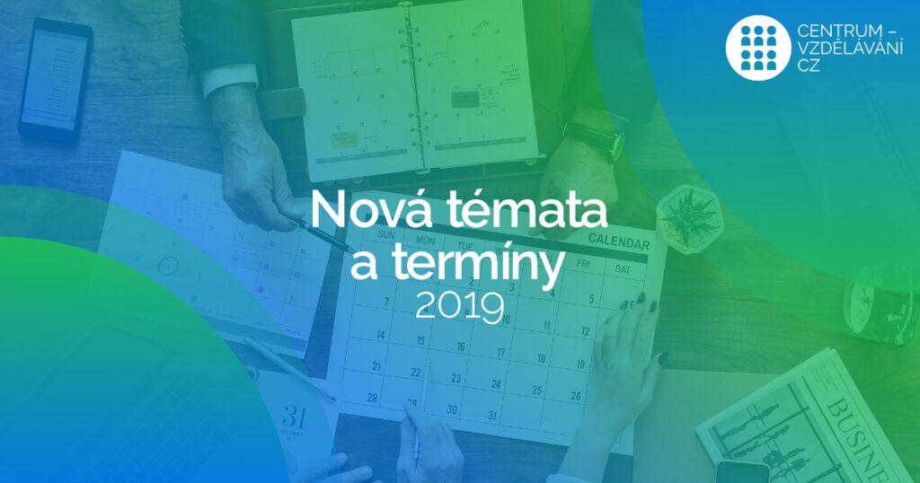 Akreditované kurzy: nová témata i termíny 2019