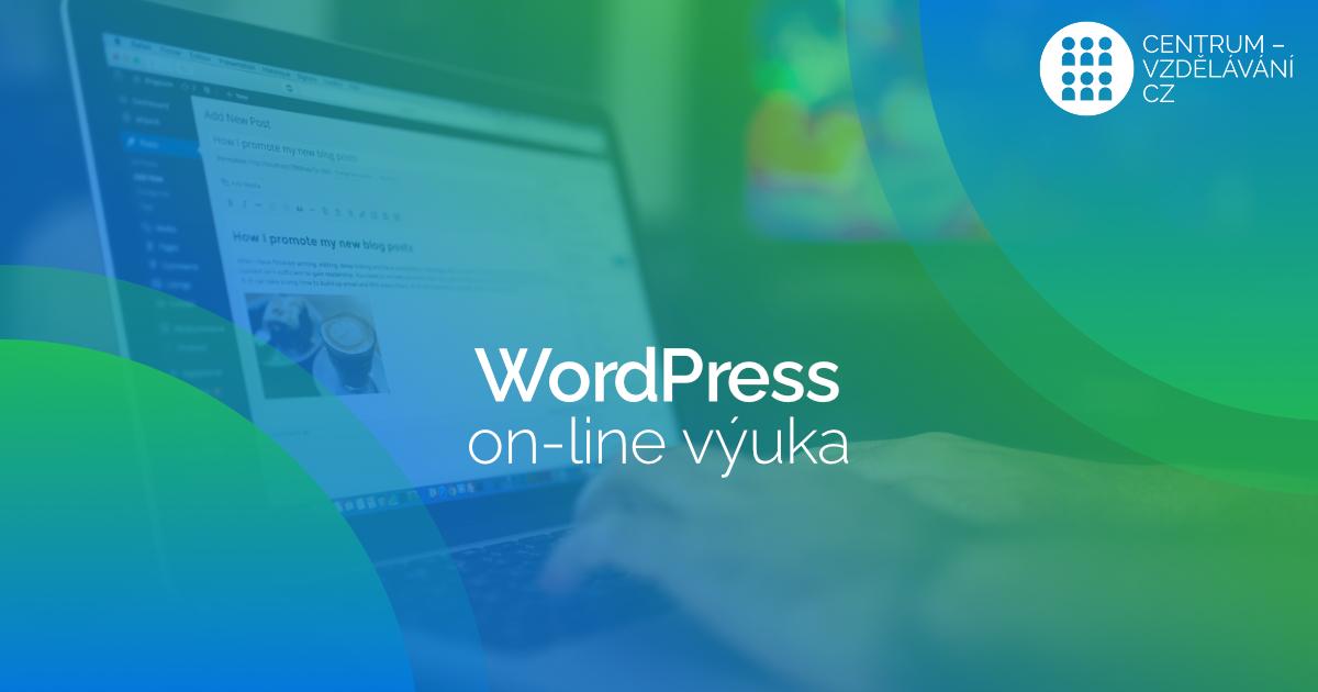 On-line výuka tvorby WordPress webu