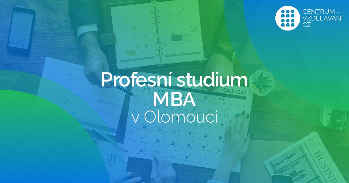 Studium MBA v Olomouci pro vedoucí pedagogické pracovníky