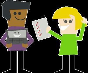 Ilustrace úspěšně zvládnutých školních úkolů
