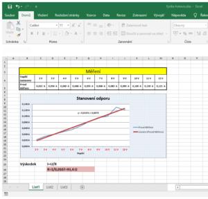 Excel - fyzika